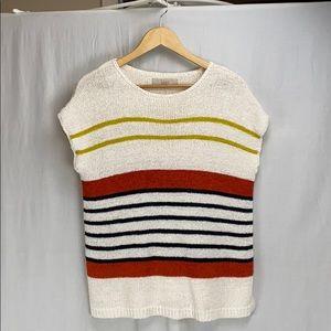 Loft Oversized striped pullover sweater